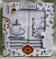 Полотенца вафельные кухоные - Nilteks - Coffee House - 4 шт. 40*70 - 100% хлопок - Турция -