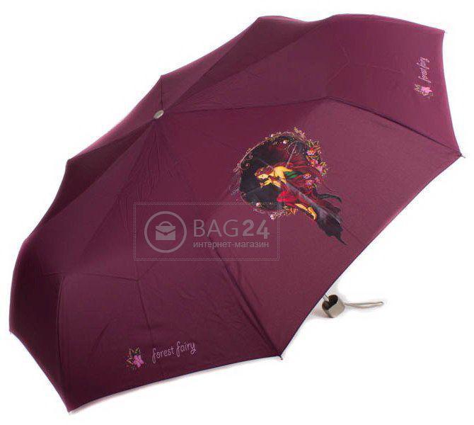 Бордовый женский компактный зонт, механический AIRTON Z3512-10