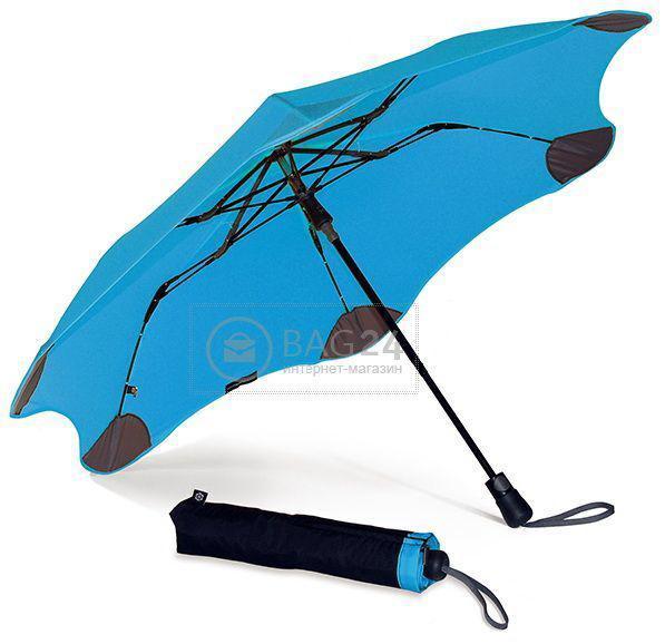 Голубой противоштормовой женский зонт, полуавтомат BLUNT Bl-xs-blue, Голубой