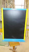 Грифельная меловая доска 100Х75 см с полочкой и креплениями