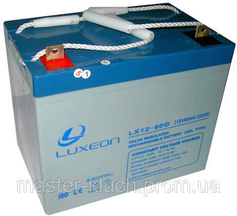 Аккумулятор Luxeon LX12-60G 12V  60Ah, фото 1
