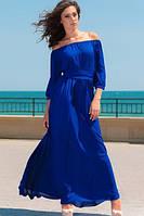 Платье шифоновое Графиня синее, фото 1