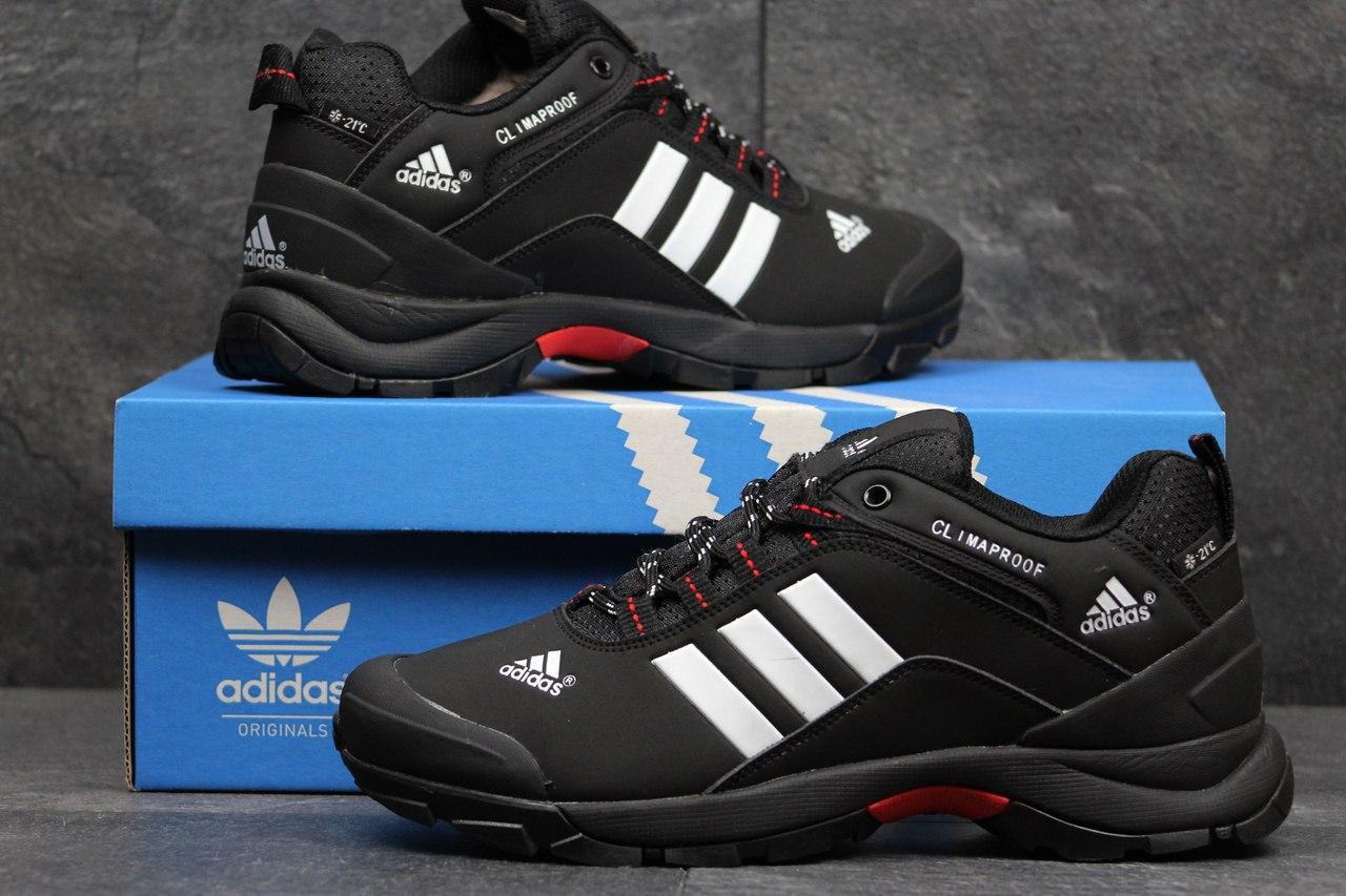 f812214634f9 Мужские Зимние Кроссовки Adidas Climaproof Черные с Белым 3635 — в ...