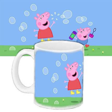 Детская чашка подарок с принтом Свинка Пеппа 656589789, фото 2