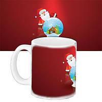 Кружка подарок с принтом Новый год Дед Мороз