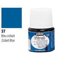 Краска витражная Пебео Pebeo (Франция) 45 мл, прозрачная, кобальт синий 37
