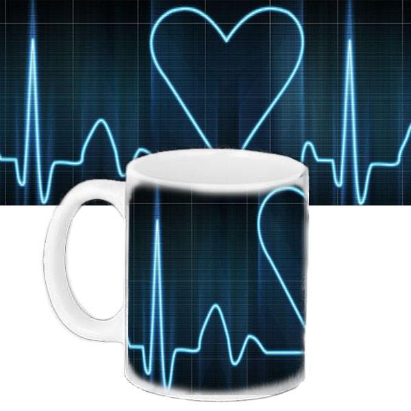 Чашка подарок с принтом Сердце