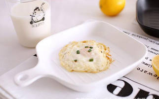 """Керамическая тарелка в виде квадратной сковородки """"NewYork"""",белая16см."""