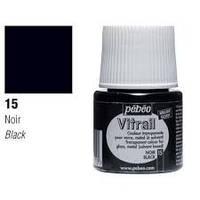 Краска витражная Пебео Pebeo (Франция) 45 мл, прозрачная, черный 15