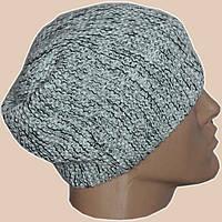 Мужская вязаная шапка-носок(утепленный вариант) объемной ручной вязки