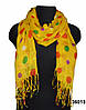 Желтый льняной шарф