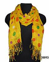 Желтый льняной шарф, фото 1