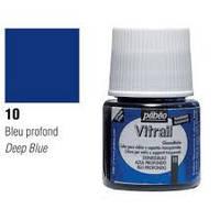Краска витражная Пебео Pebeo (Франция) 45 мл, прозрачная, глубокий синий 10