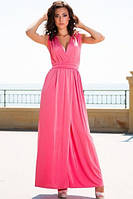 Платье розовое разрез на ноге Золото, фото 1