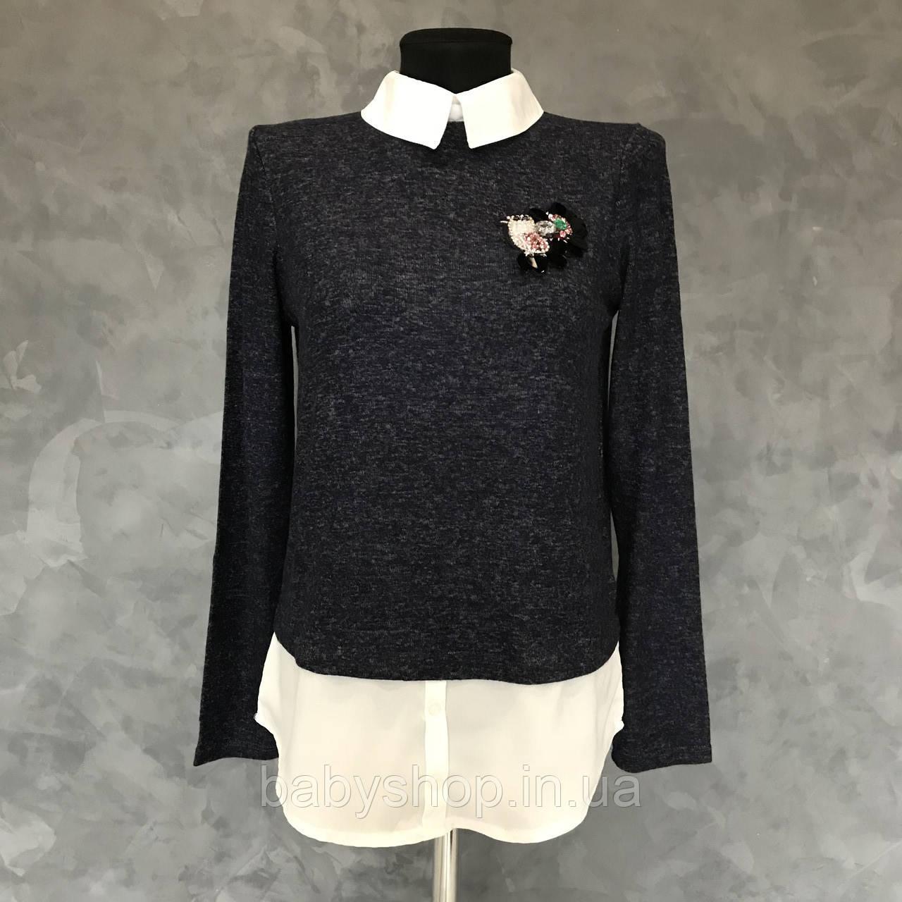 Женский свитер обманка.  Размер M