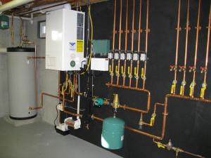 Монтаж и подключение двухконтурного отопления