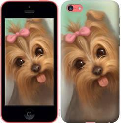 """Чехол на iPhone 5c Нарисованный йоркширский терьер """"928c-23-328"""""""