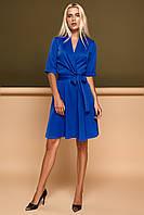 Комфортное Платье на Запах в Деловом Стиле Электрик S-XL, фото 1
