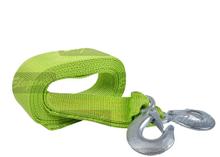 Трос буксировочный 3т 4м х 47мм с крюками зеленый Elegant PLUS 101 815