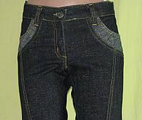 Джинсы женские черные с люриксом, фото 1