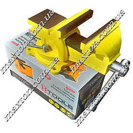 Тиски, лещата поворотні слюсарні з наковалнею 125 мм