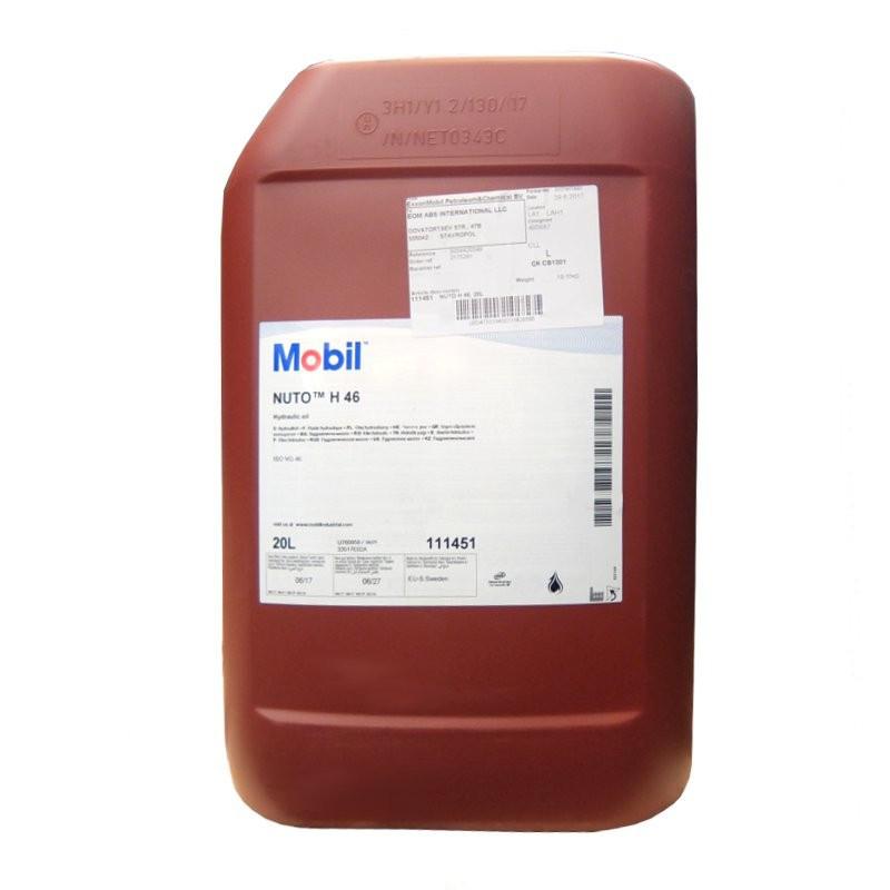 Масло гидравлическое MOBIL NUTO H 46  20л