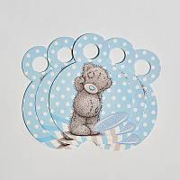 Медалька картонная  с ленточкой   Мишка Тедди