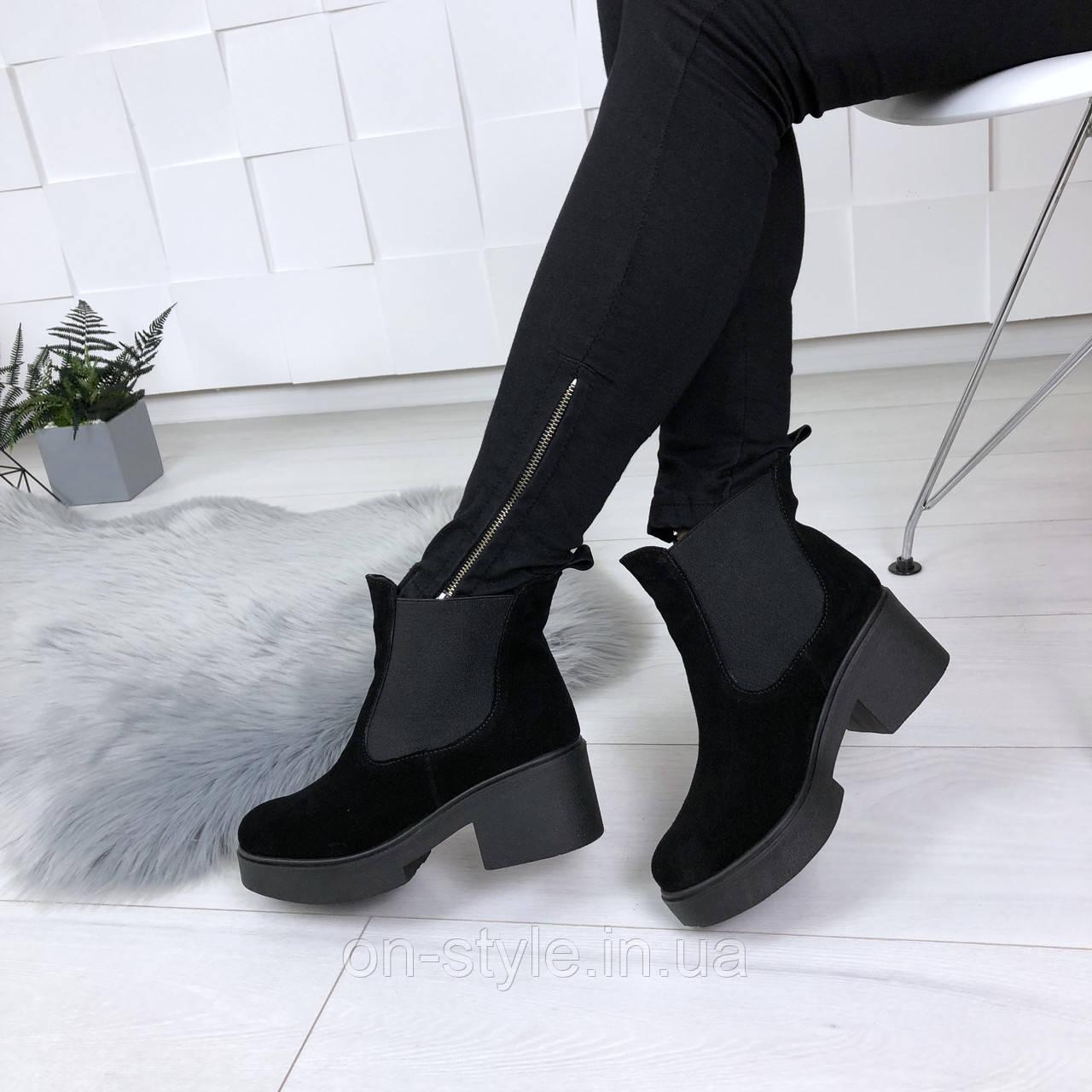 6c4e32c8 Женские замшевые черные стильные ботинки Diesel: продажа, цена в ...