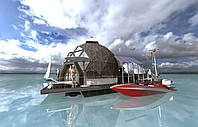 Автономный дом купол. Хаусбот. Houseboat, фото 1