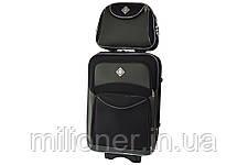 Набор чемоданов и кейсов 6в1 Bonro Style черно-серый, фото 2