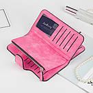Женский клатч в стиле Baellerry Forever ярко розовый замша PU, фото 2