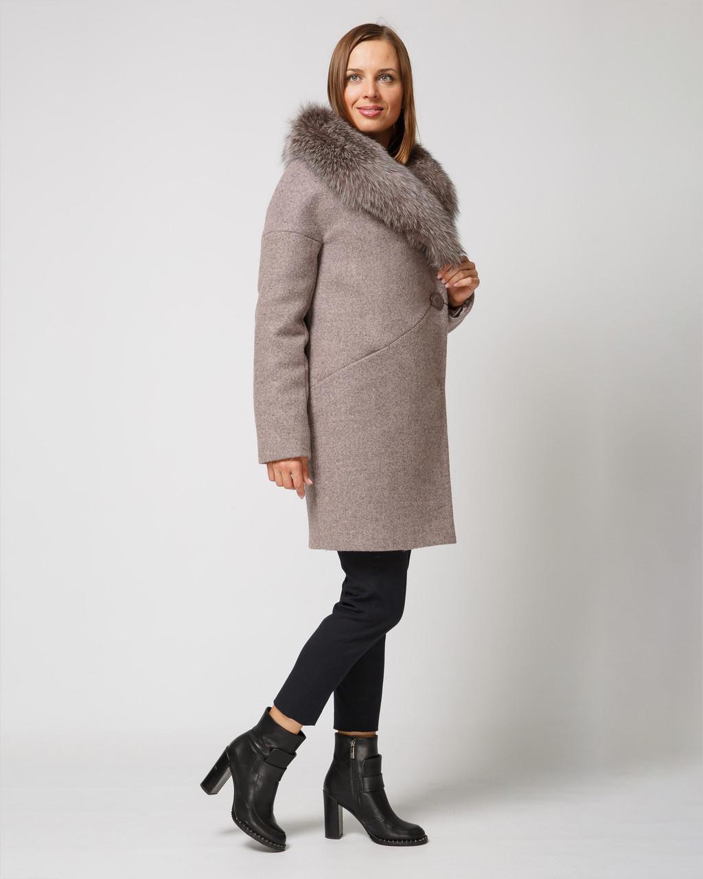 Зимнее теплое пальто со спущенными рукавами - Интернет-магазин
