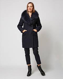 Зимнее женское пальто со спущенными рукавами