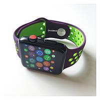 Смарт часы IWO5 корпус black matte ремешок фиолетовый/зеленый