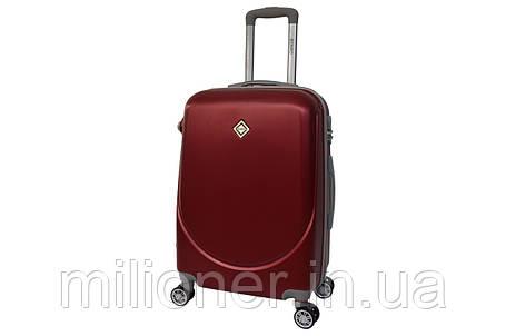 Чемодан Bonro Smile с двойными колесами (большой) бордовый, фото 2