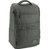 Рюкзак стильный Kite K18-1024L-1 деловой школьный взрослый отдел для ноутбука серый 30x14x45 см