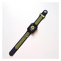 Копия Смарт часы IWO5 корпус black matte ремешок nike черный/желтый