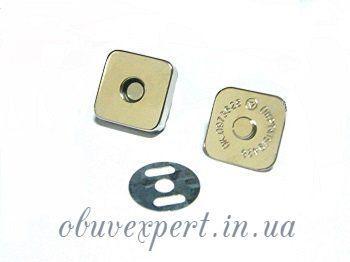 Кнопка магнитная наружная Квадрат 18*18 мм Никель