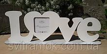 Фоторамка LOVE з дерева
