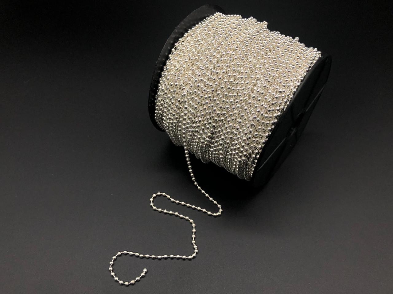 Цепочка шариковая. Светлое серебро. 2.4мм