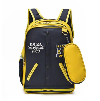 Стильный рюкзак в форме кофты бомбера с пеналом, фото 2