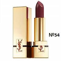 Помада для губ увлажняющая, стойкая, лаковая YSL Rouge Pur Couture, №54 SPF 15 3.8 г. (тестер)