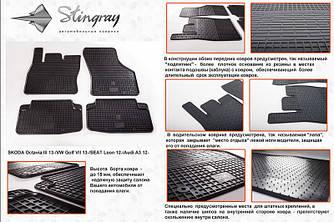 Гумові килимки (4 шт, Stingray Premium) - Audi A3 2012+ рр.