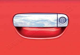 Накладки на ручки (4 шт., нерж.) - Audi A4 B6 2000-2004 гг.