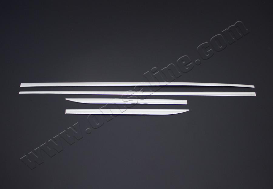 Молдинг дверной (4 шт, нерж) - Audi A3 2012+ гг.