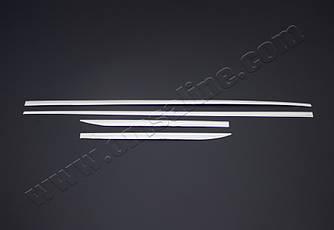 Молдинг дверний (4 шт, нерж) - Audi A3 2012+ рр.