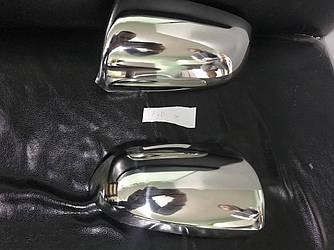 Накладки на дзеркала (2 шт., нерж.) - Audi A4 B6 2000-2004 рр.
