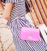 Голографическая сумка сундук на цепочке , фото 3