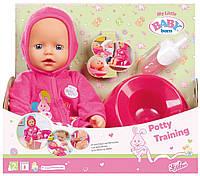 Кукла Baby Born оригинал Мамина Забота 32см с аксессуарами My Little Bath Potty Training Doll823460