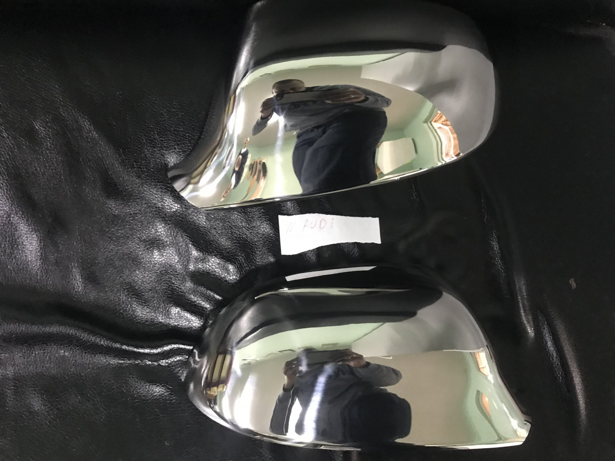 Накладки на дзеркала (2 шт., нерж.) - Audi A5 2007-2015 рр.